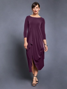 3/4 Sleeve Drama Dress by Sympli