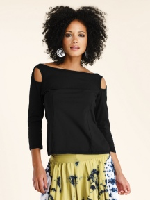 3/4 Sleeve, Open Shoulder Top by Luna Luz