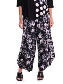 Abstract Smoke Print Punto Pant