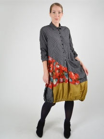 Antique Poppy Shirtdress by Alembika
