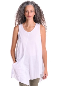 Asymmetrical A-line Pocket Tunic Tank by Alembika