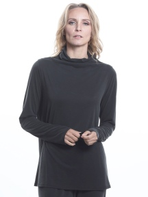 Basic Jersey Mock Neck Top by Beau Jours