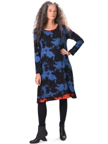 Blue Cloud Dye Dress