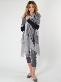 Border Spray Print Scarf by Kinross Cashmere