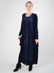 Button Velvet Dress by Alembika