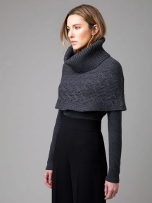 Cable Cowl Poncho by Kinross Cashmere