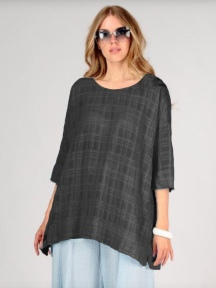 Checkered A-Line Blouse by Grizas