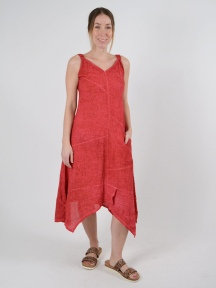 Cherry Linen Dress by Inizio