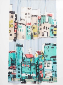 Cinque Terra Print Scarf by Kinross Cashmere