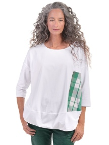Clover Plaid Cotton Tee by Alembika