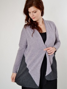 ColorBlock Cardigan by Kinross Cashmere