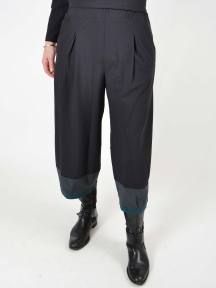 Colorblock Cropped Lantern Pant by Chiara Cocol