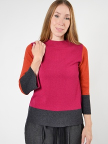 Colorblock Funnel Sweater by Kinross Cashmere