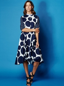 Cotton Dot Dress by Alembika