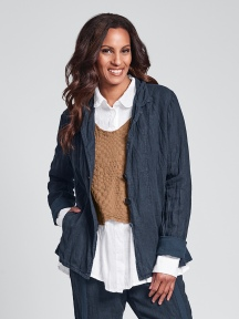 Crinkle Linen Market Jacket by Flax