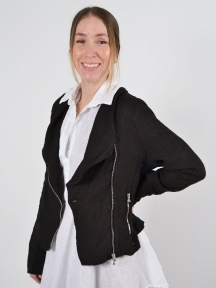 Cropped Linen Jacket by Inizio