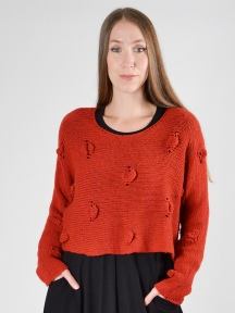 Cropped Texture Sweater by Grizas