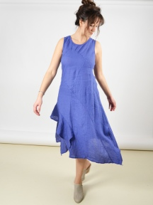 0759e71aa0 Cross Breeze Linen Dress by Inizio
