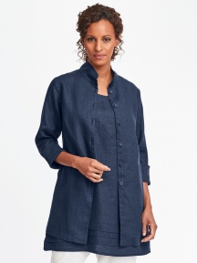 Dame Long Linen Blouse by Flax