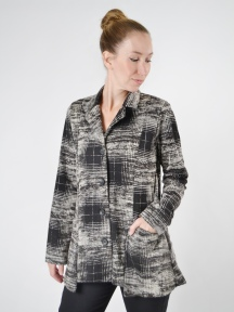 Dee Knit Plaid Jacket by Comfy USA