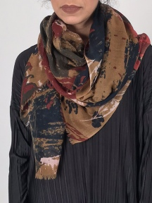 Delos Abstract Print Scarf by Amet & Ladoue