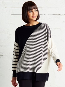 Diagonal Rib Sweater by Planet