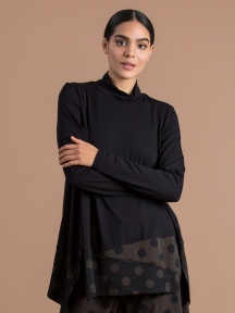 Dot Turtleneck Top by Alembika