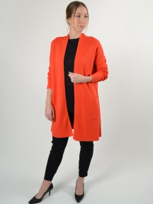 Double Knit Long Cardi by Kinross Cashmere