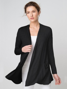 Drape Front Cardigan by Kinross Cashmere