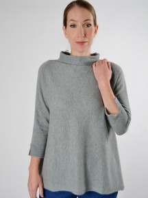 Easy Funnel Pullover by Kinross Cashmere