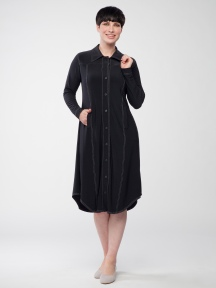 Echo Stitch Shirt Dress by Sympli