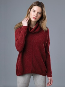 Exposed Seam Cashmere Popover by Kinross Cashmere