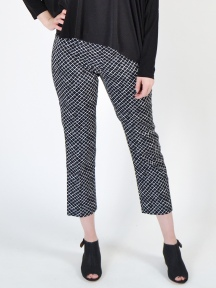 Fence Print Jerry Ankle Pant by Peace Of Cloth