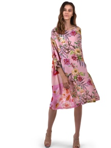 Floral A-Line Dress by Alembika