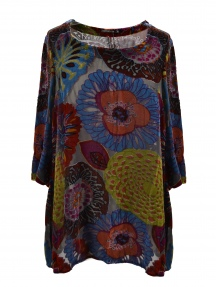 Floral Burnout Velvet Tunic by Grizas
