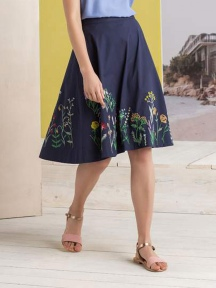 Floral Embroidered Skirt by Ivko