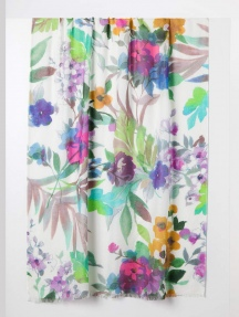 Fresh Cut Floral Print Scarf by Kinross Cashmere