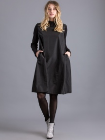 Funnel Neck Nylon Dress by Alembika