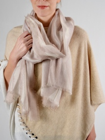 Geo Diamond Print Scarf by Kinross Cashmere