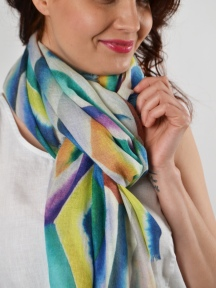 Geo Diamond Scarf by Kinross Cashmere