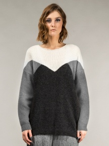 Geometric Wool Sweater by Grizas