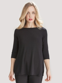 Go To Boat Neck T Relax 3/4 Sleeve by SYMPLI