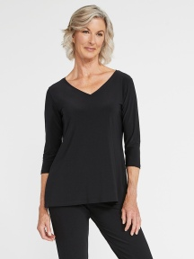 Go To V-Neck T Relax, 3/4 Slv by Sympli