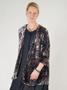 Graphic Floral Cut Velvet Jacket by Aris A.