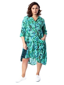 Green Gingham Wonderful Dress by Alembika