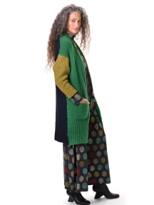 Green Long Cardigan