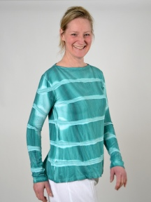 Green Stripe Top by Annie Turbin