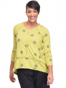 Green Thumbprint Presley Top by Snapdragon & Twig