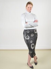 Grey Dot Skirt by Annie Turbin