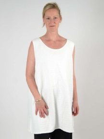 Grid Texture Sleeveless Tunic by Chalet